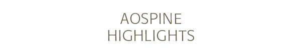 AOSpine Newsletter